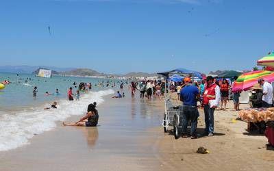 Playas abarrotadas