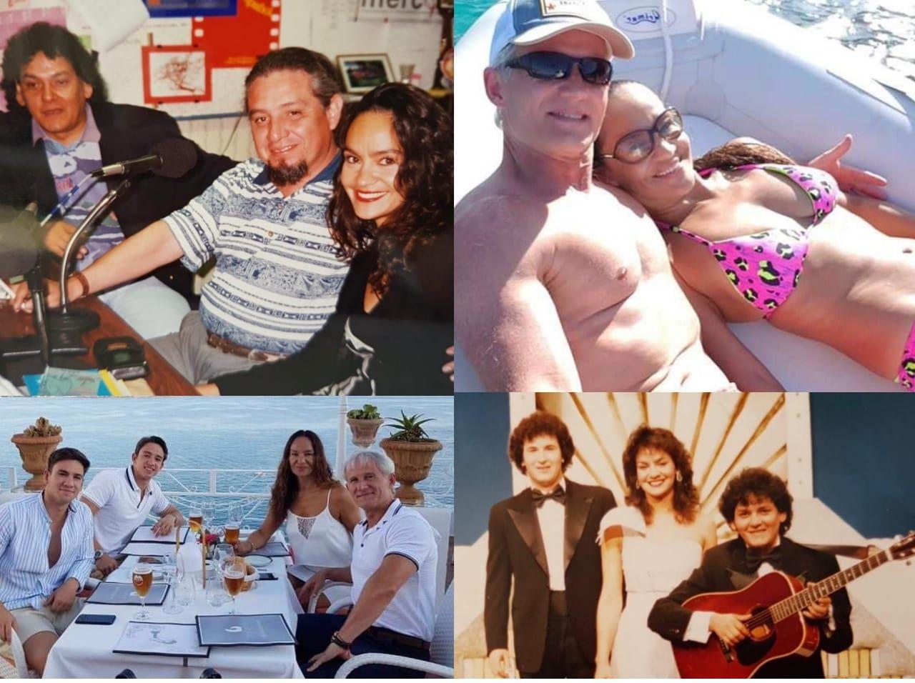 Ayer y hoy. Marina, con Julio Ovelar y Jorge Garbett. Con su familia en España, y un recuerdo con el Trío Tenondeté.