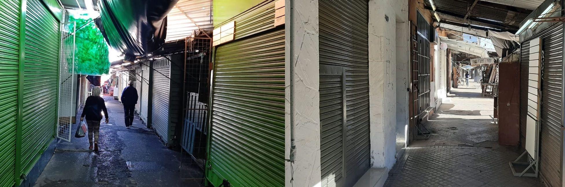En medio de la crisis sanitaria y económica hoy se conmemora el Día del Trabajador. El Mercado 4 con varios locales cerrados.