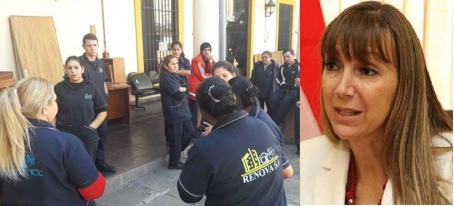 Despidos masivos en empresas de limpieza y medios de comunicación. No se sabe qué medidas tomará la ministra Carla Bacigalupo.