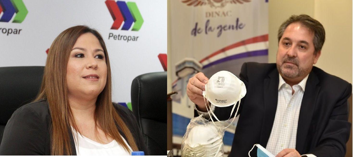 Patricia Samudio y Edgar Melgarejo fueron los primeros en caer por los negocios de pandemia.
