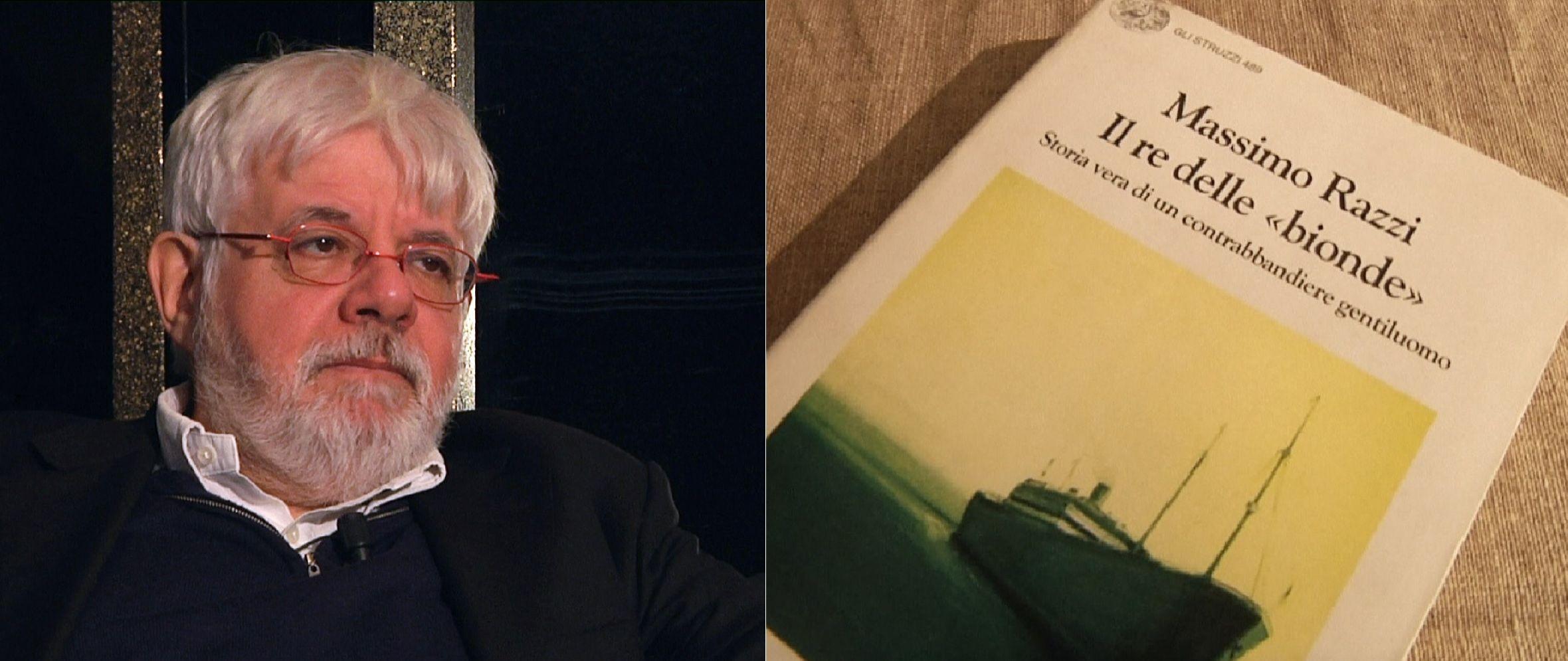 El periodista Massimo Razzi y su libro El Rey de la Rubia. Los vínculos entre el contrabando de cigarrillos y la mafia.