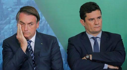 """Moro tiene en la mira a Bolsonaro a quien acusa de """"interferir"""" para beneficio de su familia."""