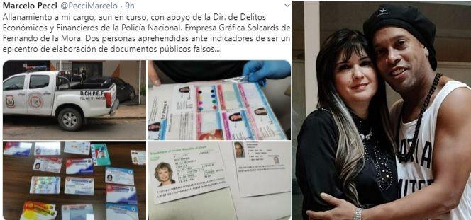 Imprenta allanada por producir documentos falsos ponen bajo la lupa a Dalia y a Ronaldinho