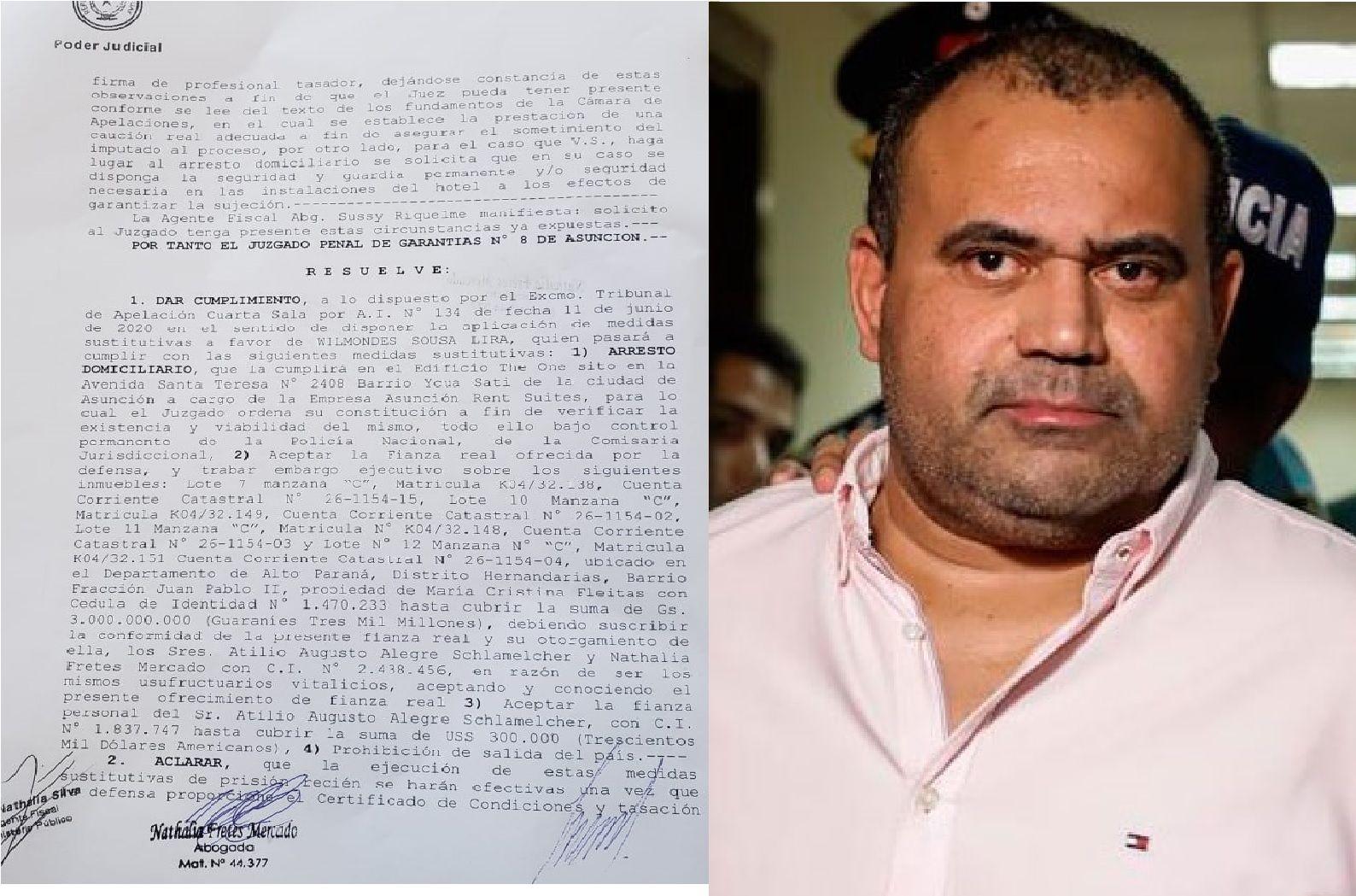 """Después de algunas """"burocracias"""" Sousa Lira irá a un hotel a cumplir la medida."""