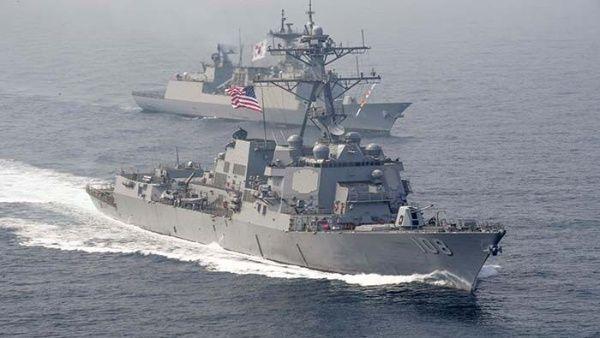 Estados Unidos y China miden fuerzas con ejercicios navales en la misma zona.