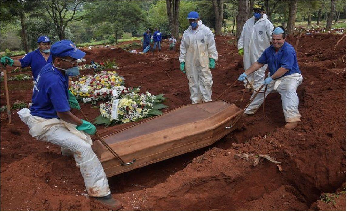 El virus no da tregua a Brasil que sigue aumentando la cantidad de muertos.