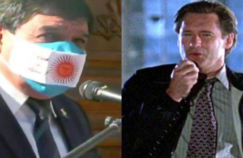 """El intendente Rodolfo Torres """"se inspiró"""" en la película """"Día de la Independencia"""" para hacer su discurso político."""