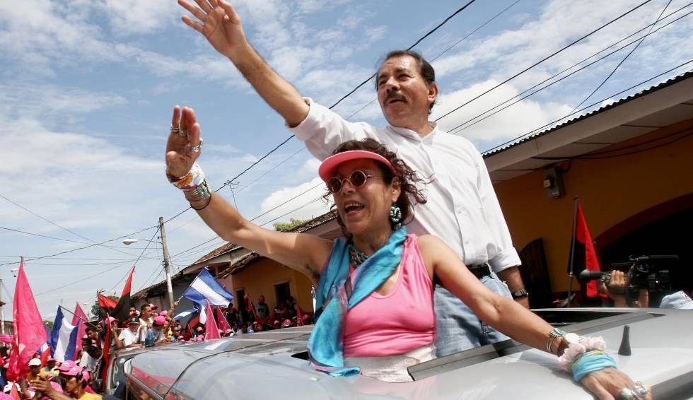 Daniel Ortega y su esposa Rosario Murillo contradiciendo todas las normas sanitarias convocan a una marcha contra el coronavirus