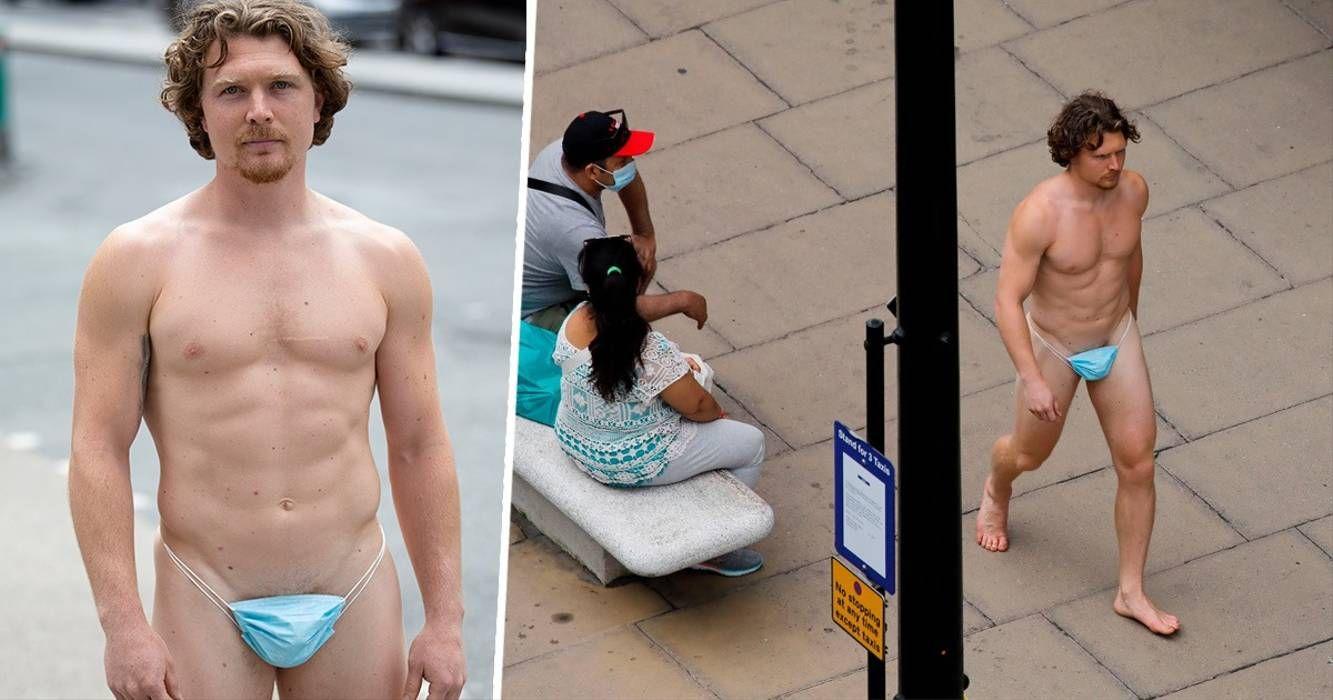 El hombre caminó despreocupado por las calles de Londres.