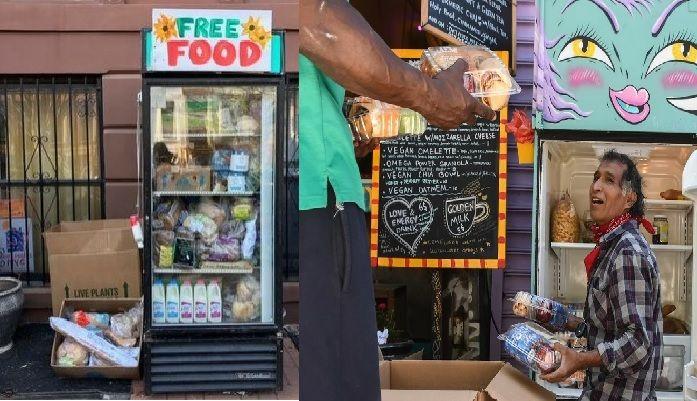 La heladera comunitaria inició en Nueva York. En Los Ángeles imitaron la práctica.