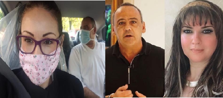 Wilmondes Souza Lira (junto a la abogada Nathalia Fretes que logró sacarlo de prisión) Belotti Dos Santos y Dalia López, los responsables de traer a Ronaldinho.