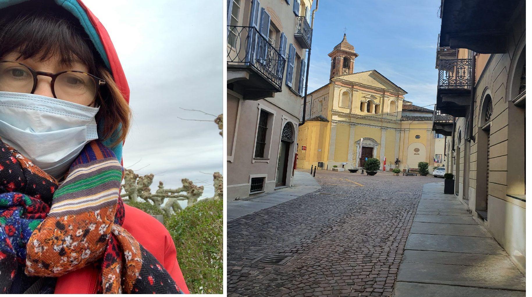 Soraya Sauá, vive en Italia, en el límite con Lombardía, la zona más castigada. Las calles habitualmente colmadas, hoy transmiten una imagen de desolación.