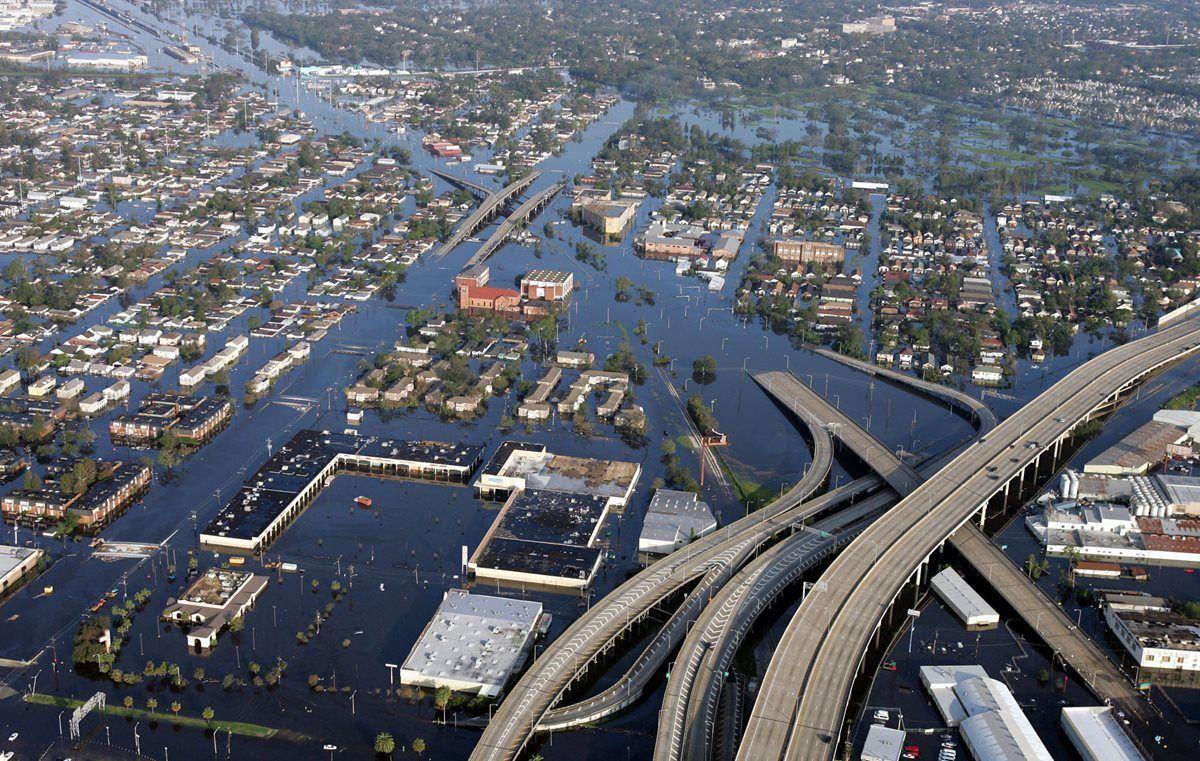 Katrina dejó inundada la ciudad de Nueva Orleans.