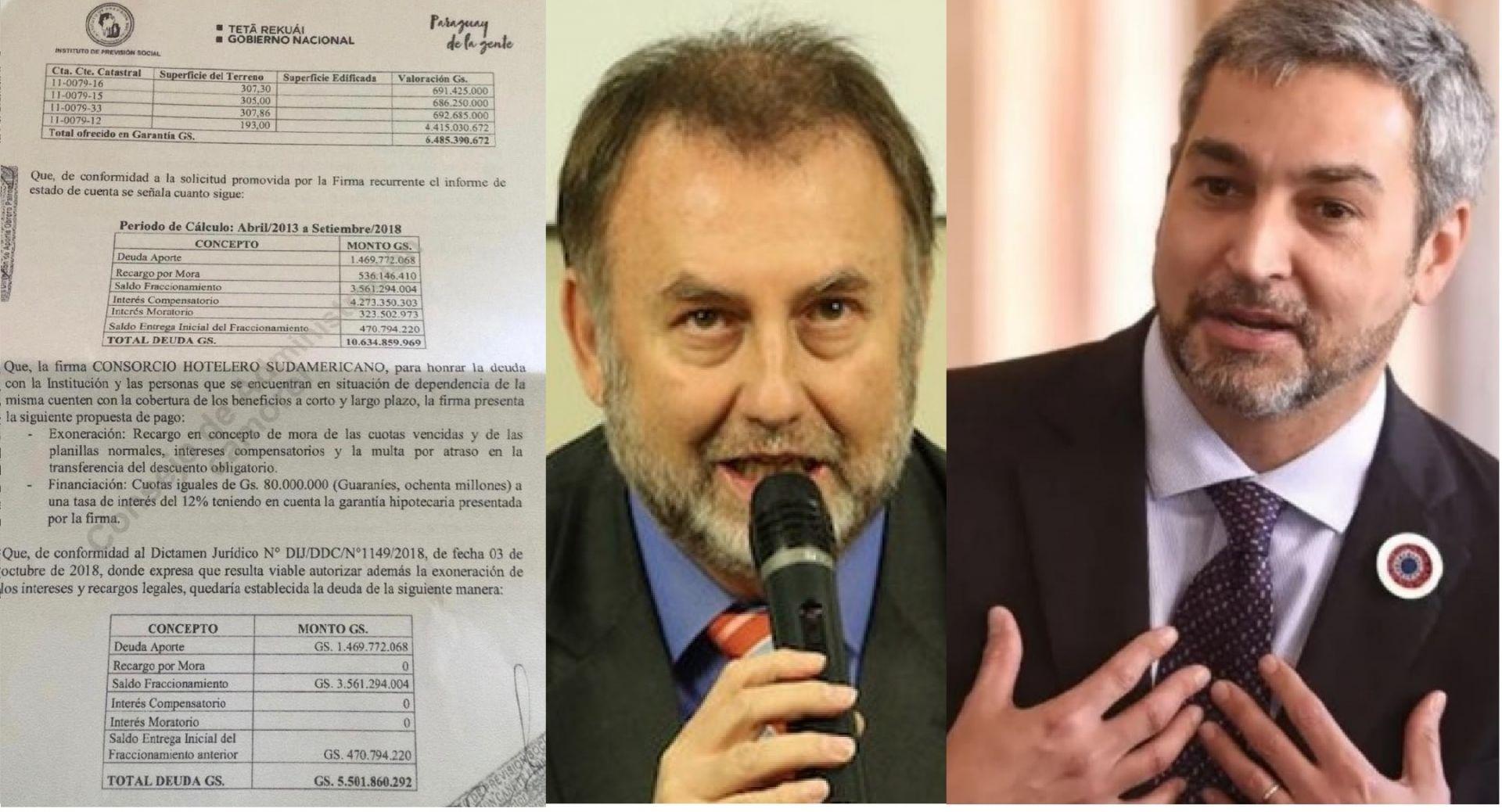 Milagroso y millonario descuento se le hizo al Consorcio Hotelero Sudamericano al asumir el gobierno de la gente.