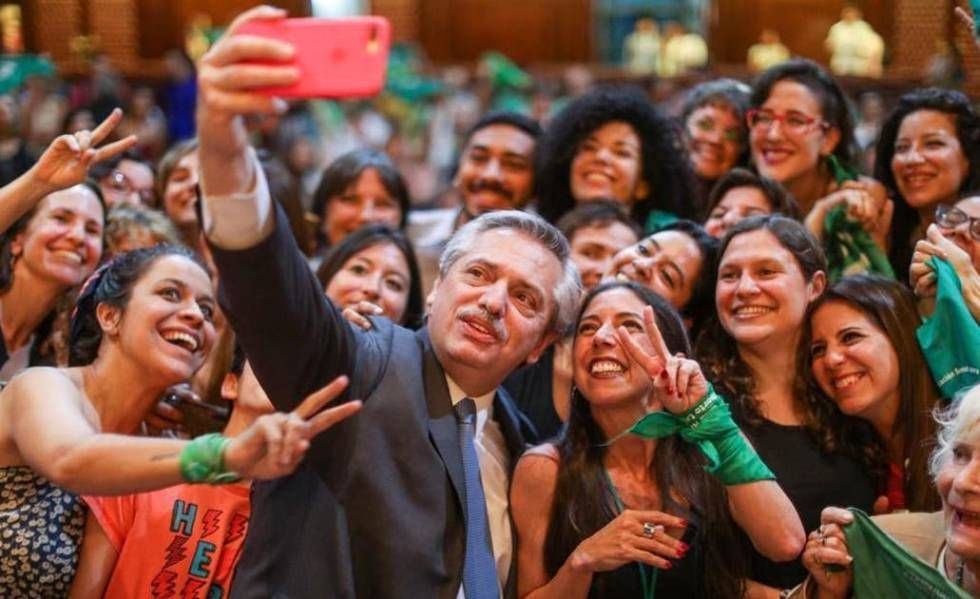 Alberto Fernández prometió durante su campaña el proyecto de ley de la despenalización del aborto.
