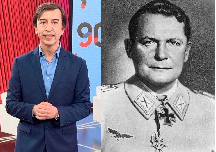 El periodista argentino metió la pata al mencionar un jerarca nazi como escritor conocido.