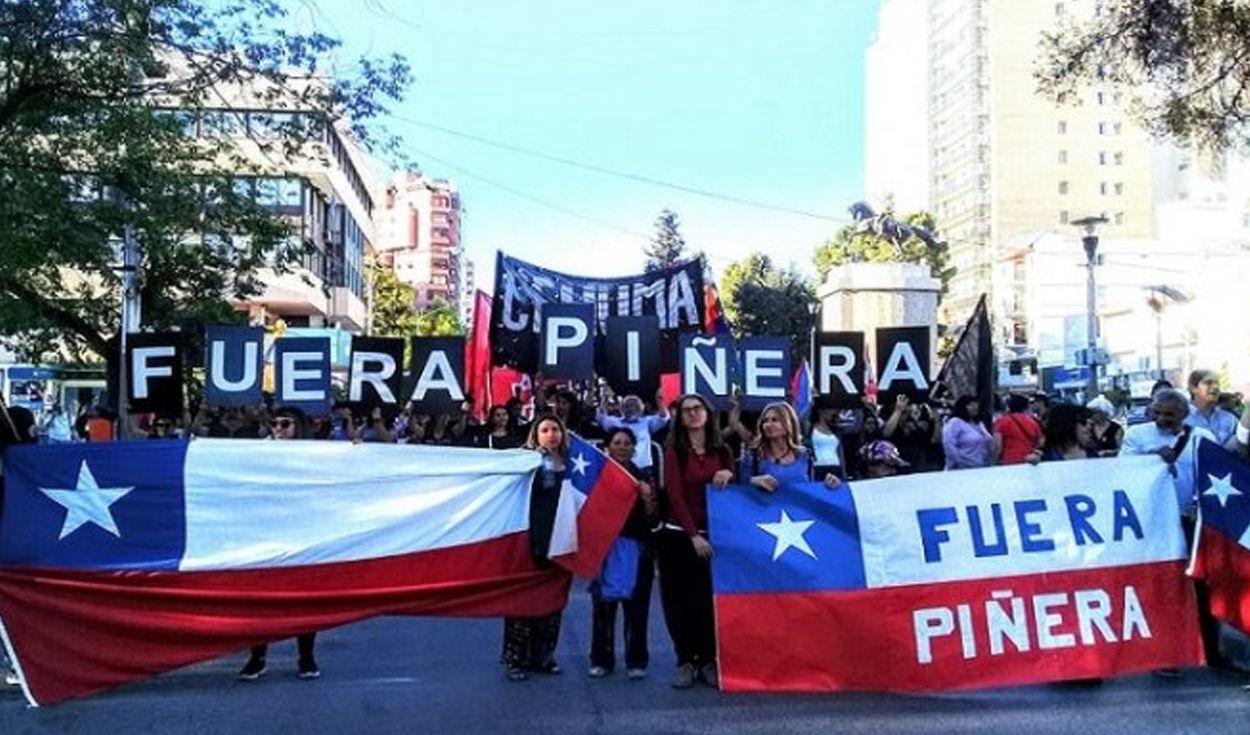 En Chile los manifestantes no dan tregua hacia el gobierno de Sebastián Piñera.
