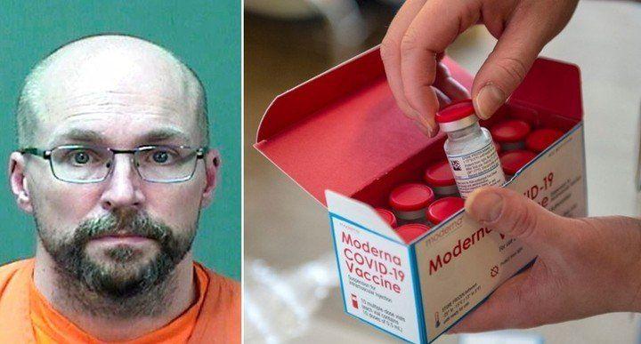 Steven Brandenburg, un farmacéutico que es sospechoso de haber arruinado cientos de dosis de la vacuna contra coronavirus.