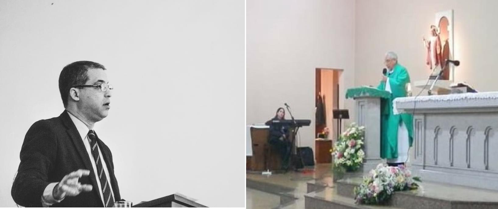 """Para el pastor Freddy Almada el coronavirus no es un castigo de Dios. Pero para el sacerdote Enrique Meyer es """"un correctivo""""."""