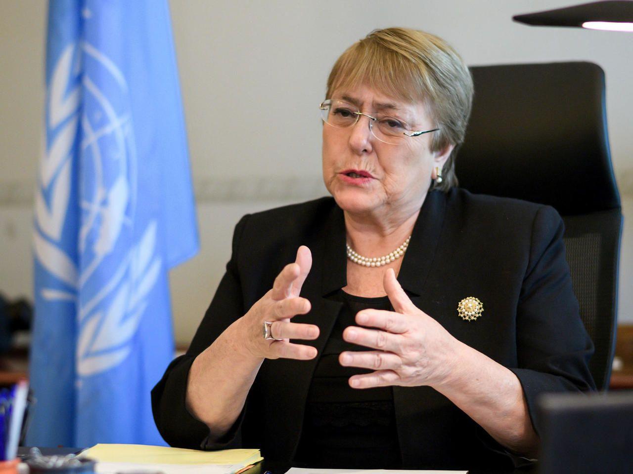 Michelle Bachelet es de la comisionada de la ONU para los derechos humanos.