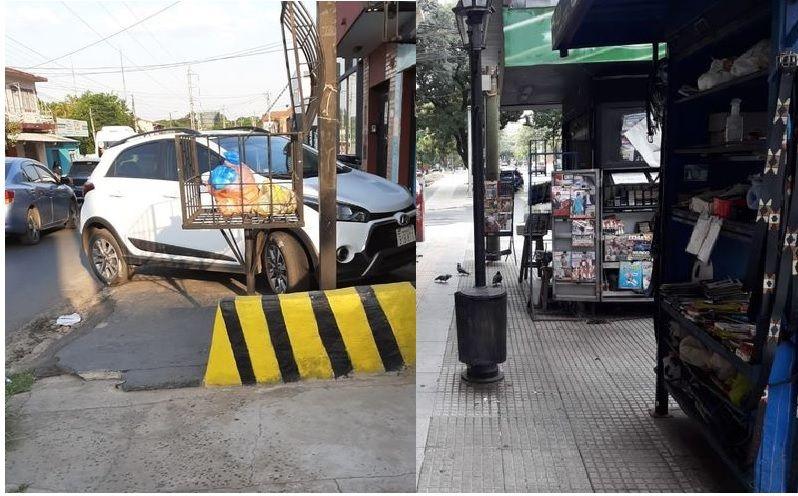 Asunción y Lambaré tienen las veredas son ocupadas por mercaderías o vehículos estacionados.