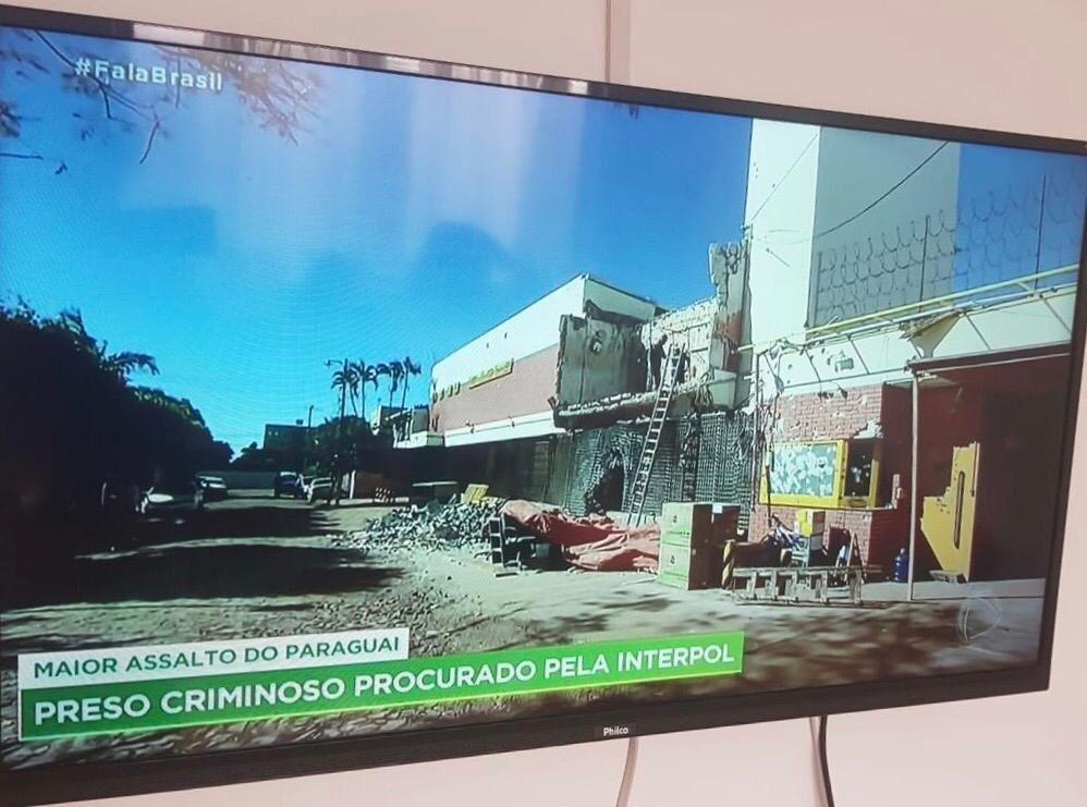 La televisión brasileña inmediatamente se hizo eco de la captura del supuesto cerebro del asalto del siglo.