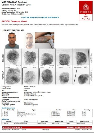 Denilson Moreira Días es el nombre real del cerebro del multimillonario asalto a Prosegur detenido en San Pablo