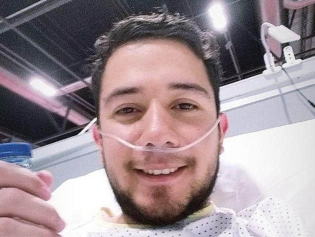 Ramiro Garcete estuvo 17 días internado luchando contra el coronavirus. Ayer fue dado de alta.